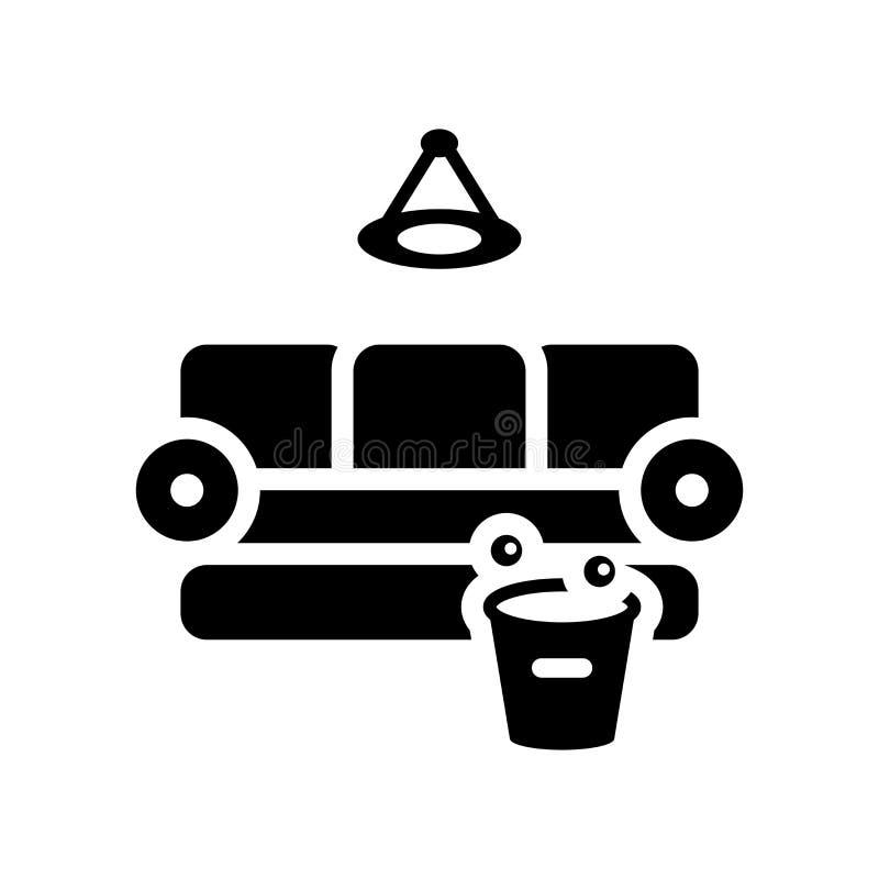 Symbol för rent rum Moderiktigt logobegrepp för rent rum på den vita backgroen royaltyfri illustrationer