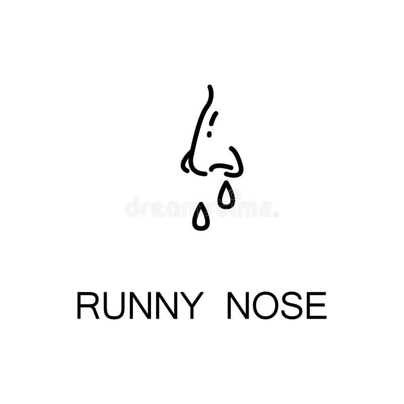 Symbol för rinnande näsa stock illustrationer