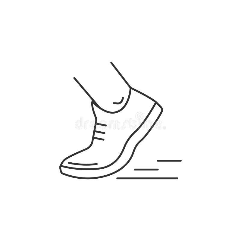 Skor som kör pictogramen vektor illustrationer. Illustration