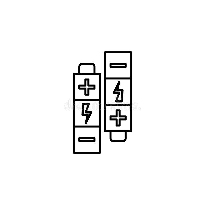 Symbol för robotteknikbatteriöversikt Tecknet och symboler kan användas för rengöringsduken, logoen, den mobila appen, UI, UX stock illustrationer