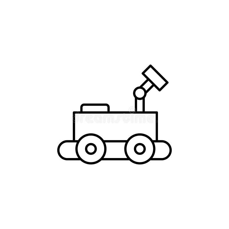 Symbol för robotteknikkämpeöversikt Tecknet och symboler kan användas för rengöringsduken, logoen, den mobila appen, UI, UX royaltyfri illustrationer