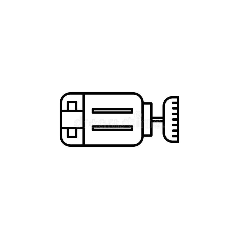 Symbol för robotteknikmotoröversikt Tecknet och symboler kan användas för rengöringsduken, logoen, den mobila appen, UI, UX stock illustrationer
