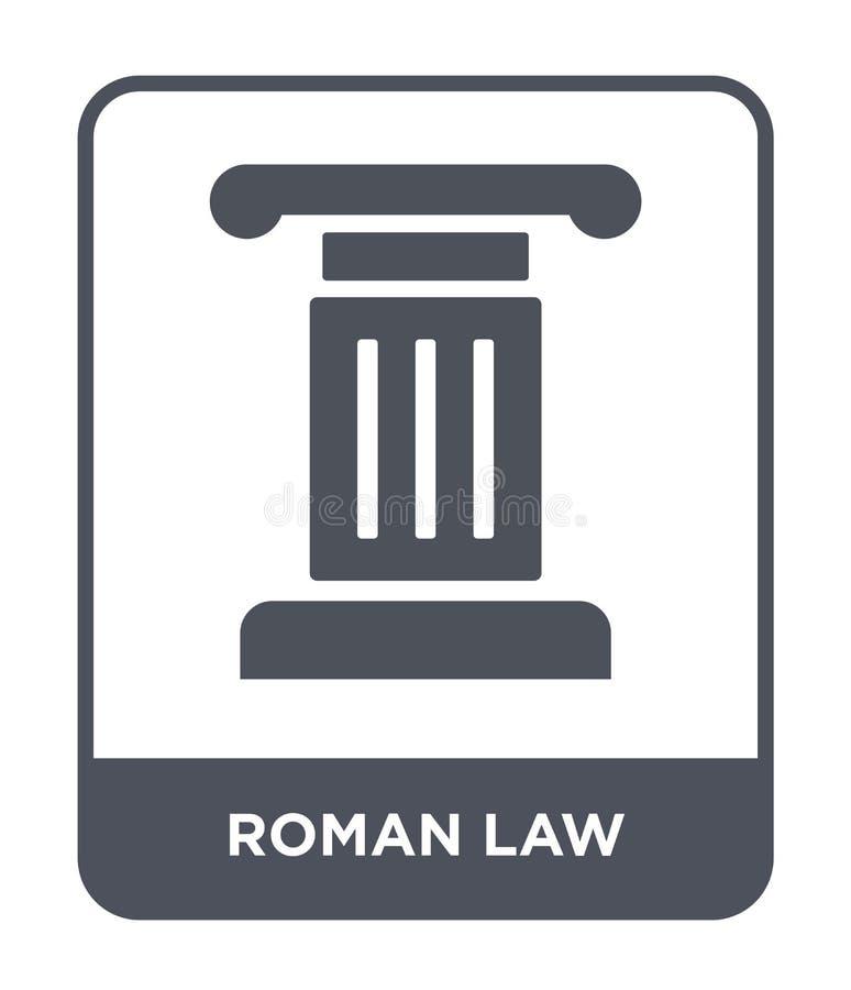 symbol för roman lag i moderiktig designstil symbol för roman lag som isoleras på vit bakgrund för vektorsymbol för roman lag enk stock illustrationer