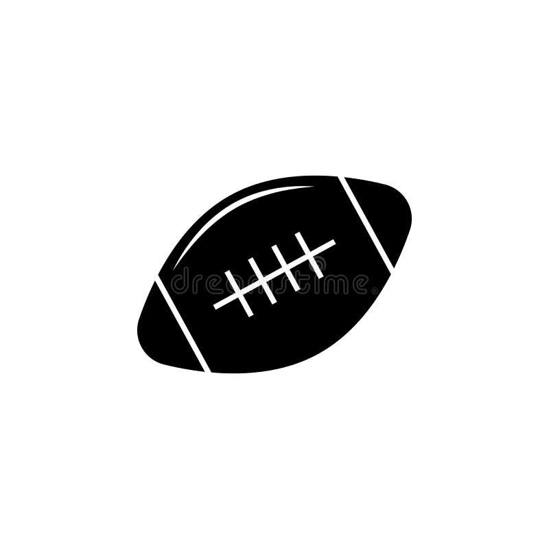 Symbol för rugbyboll Beståndsdel av sportsymbolen för mobila begrepps- och rengöringsdukapps Den isolerade symbolen för rugbyboll stock illustrationer