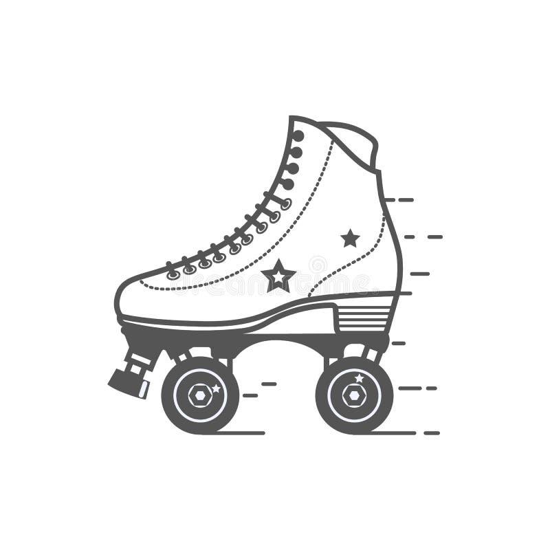 Symbol för rullskridsko Den plana vektorn gällde symbolen för rengöringsduk- och mobilapplikationer Det kan användas som - logoen royaltyfri illustrationer