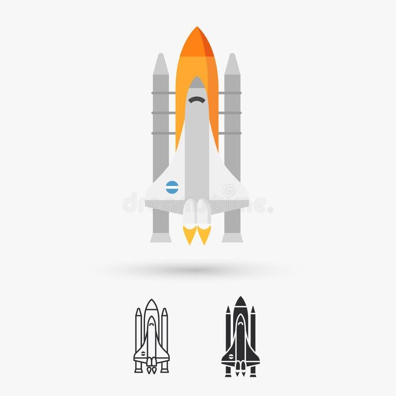 Symbol för rymdfärjavektor vektor illustrationer