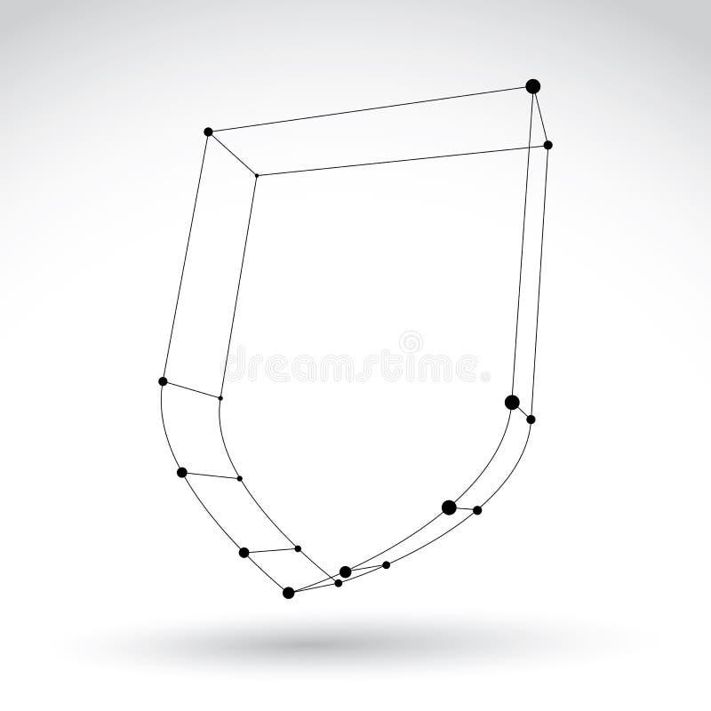 symbol för säkerhet för kadaver för ingrepp som 3d monokrom isoleras på vit backg royaltyfri illustrationer