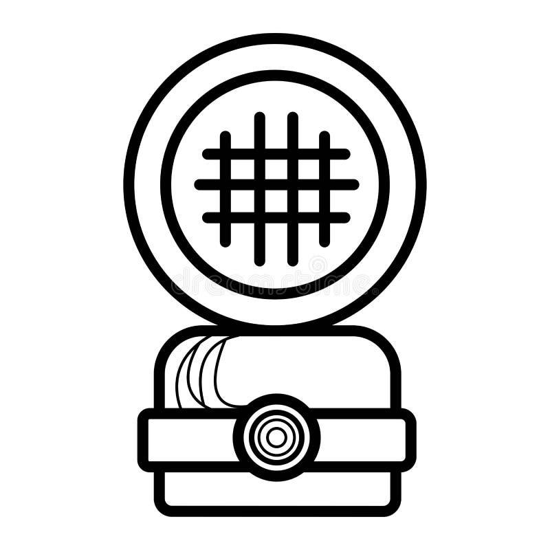 Symbol för säkerhetshjälm royaltyfri illustrationer