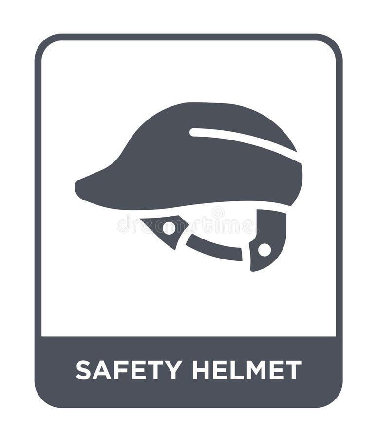 symbol för säkerhetshjälm i moderiktig designstil symbol för säkerhetshjälm som isoleras på vit bakgrund enkel symbol för vektor  royaltyfri illustrationer