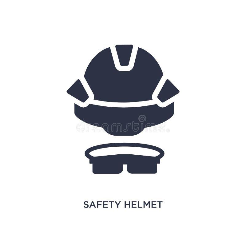 symbol för säkerhetshjälm på vit bakgrund Enkel beståndsdelillustration från konstruktionsbegrepp stock illustrationer