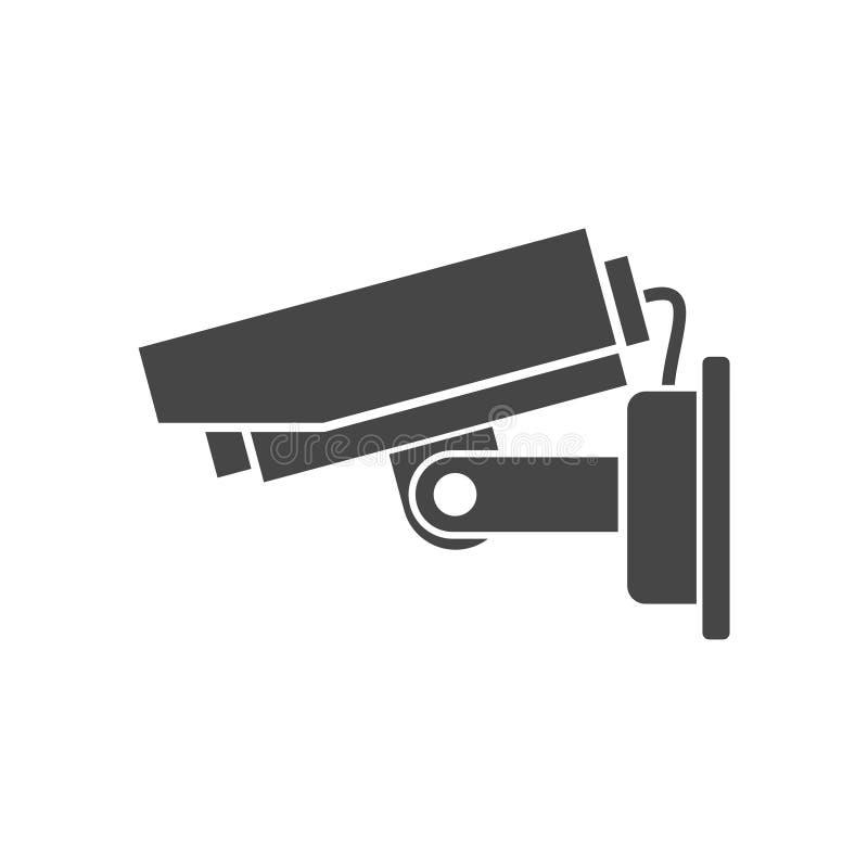 Symbol för säkerhetskamera stock illustrationer