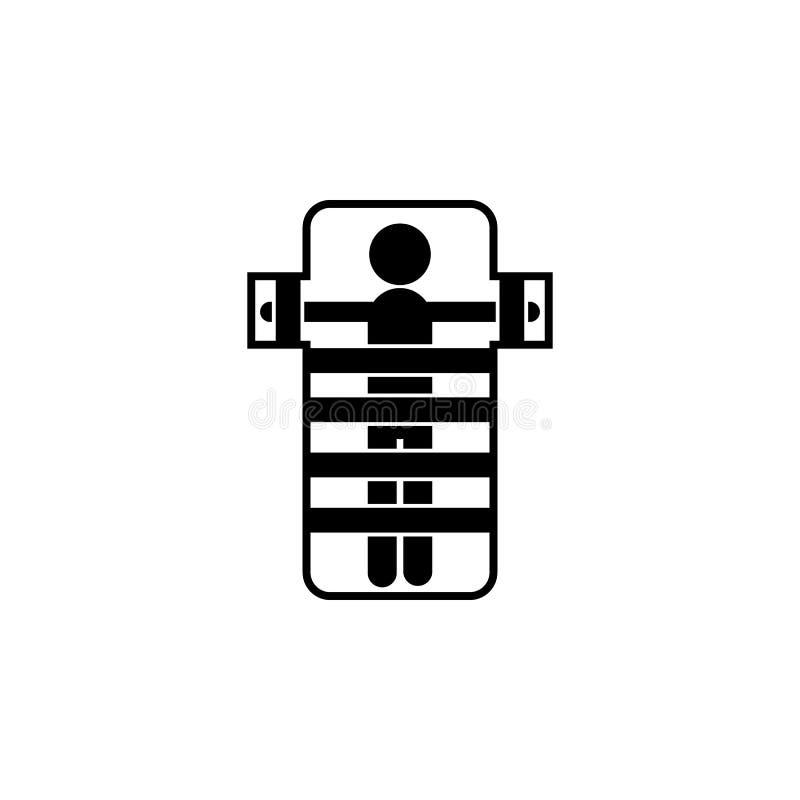 Symbol för säng för mentalt sjukhus stock illustrationer