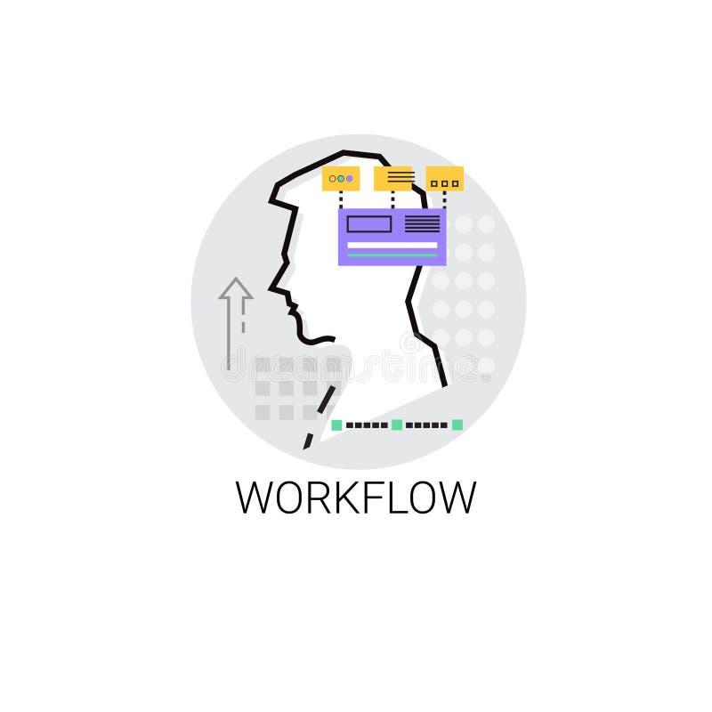 Symbol för samarbete för Workflowaffärsprocess vektor illustrationer