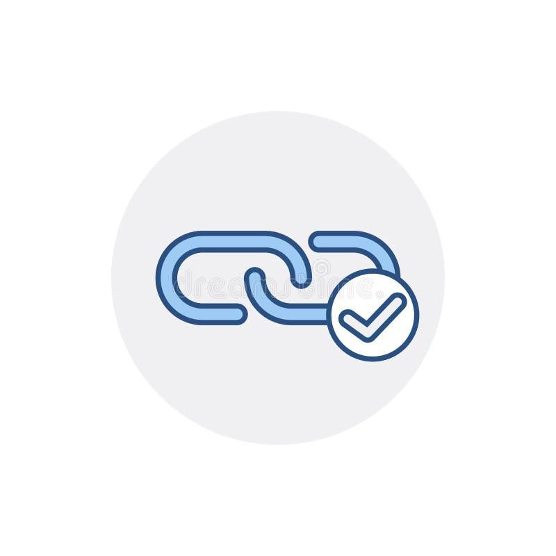 Symbol för sammanlänkning för rengöringsduk för rengöringsduk för sammanlänkning för hyperlink för adresskedjekontroll vektor illustrationer