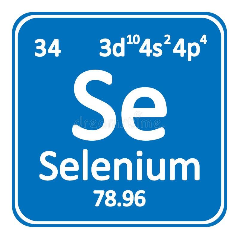 Symbol för selen för beståndsdel för periodisk tabell royaltyfri illustrationer