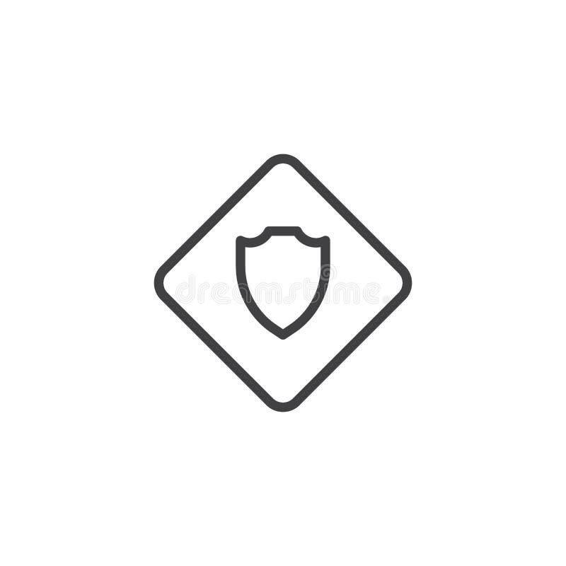 Symbol för sheriffemblemöversikt stock illustrationer