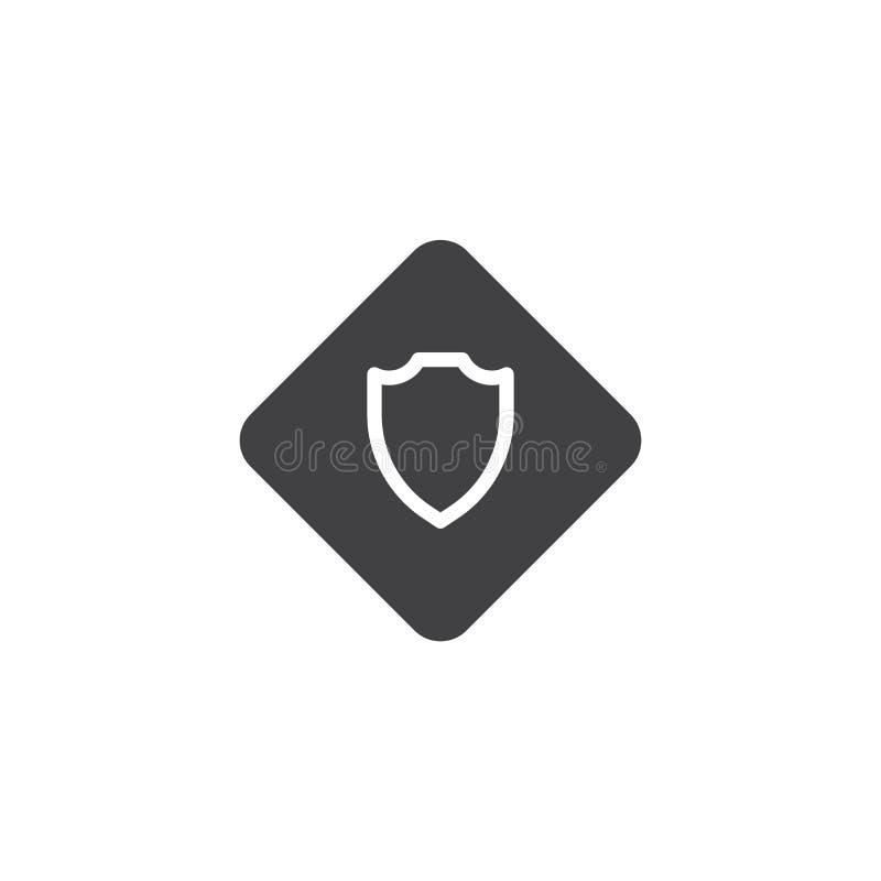 Symbol för sheriffemblemvektor stock illustrationer