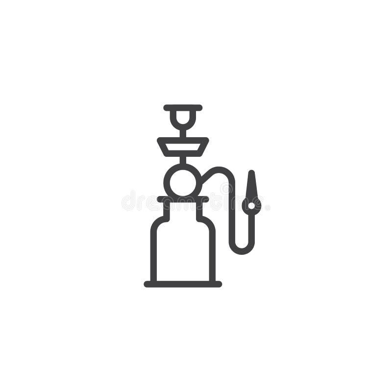 Symbol för Shisha röröversikt vektor illustrationer