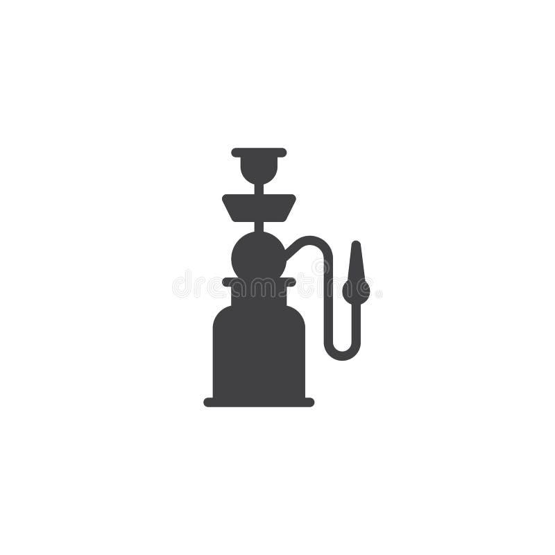 Symbol för Shisha rörvektor stock illustrationer