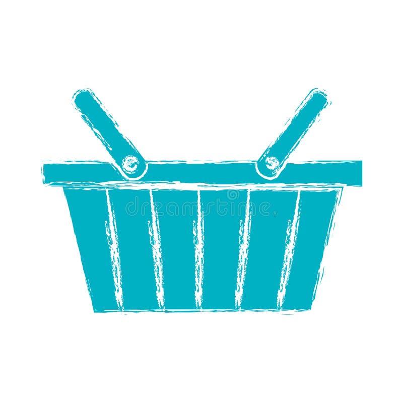 Symbol för shoppingkorg vektor illustrationer