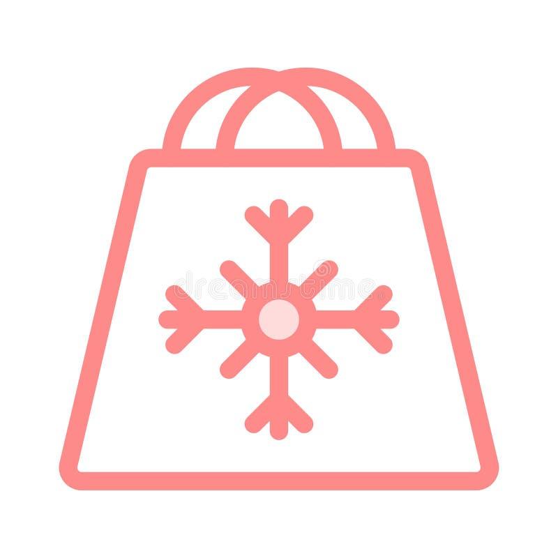Symbol för shoppingpåse royaltyfri illustrationer