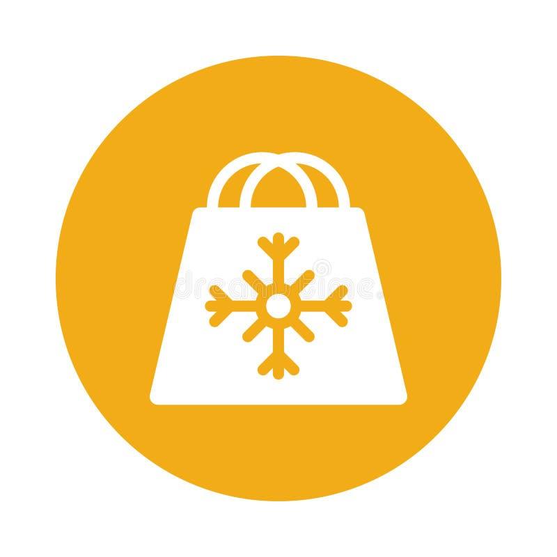 Symbol för shoppingpåse stock illustrationer