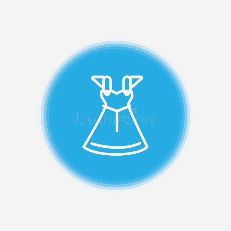 Symbol för sihn för klänningvektorsymbol royaltyfri illustrationer