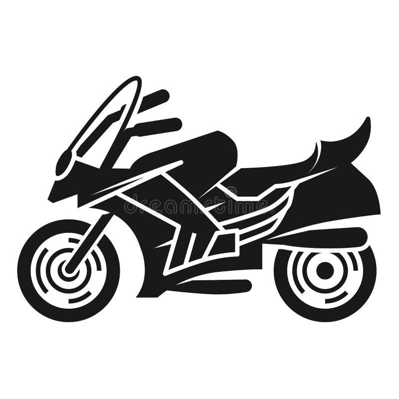 Symbol för sikt för sportcykel vänster, enkel stil stock illustrationer