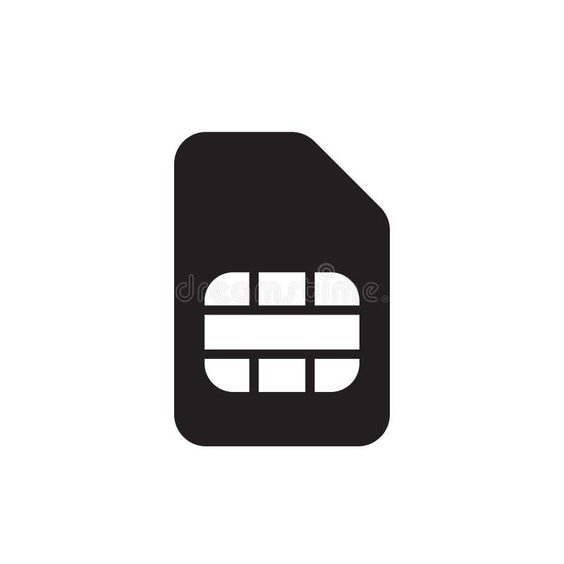 Symbol för Sim kortvektor symbol f?r kortsymbolssim Sim kort - mobil springasymbol Mobil mobiltelefon Sim Card Chip Isolated stock illustrationer