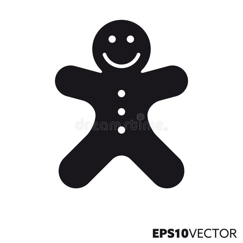 Symbol för skåra för vektor för pepparkakaman vektor illustrationer