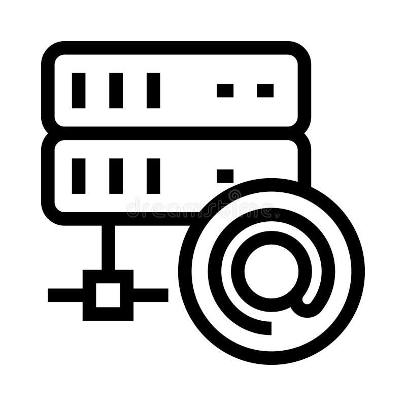 Symbol för skåror för serverpostvektor royaltyfri illustrationer