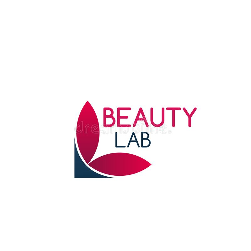 Symbol för skönhetlabbvektor stock illustrationer
