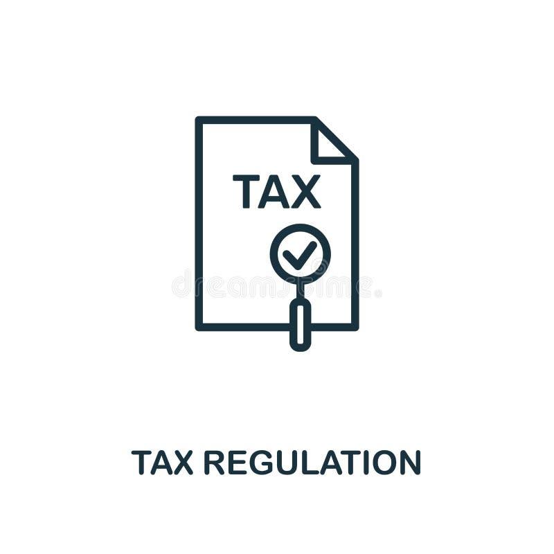 Symbol för skattreglering Idérik beståndsdeldesign från samling för fintechteknologisymboler För skattreglering för PIXEL perfekt royaltyfri illustrationer