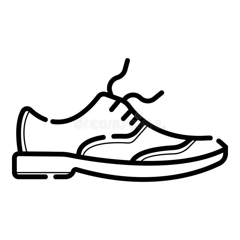 Symbol för sko för man` s stock illustrationer