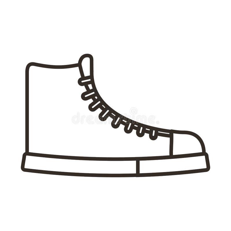 symbol för skobarnstil vektor illustrationer