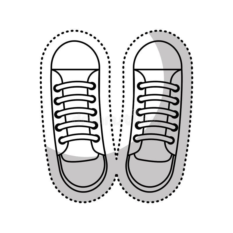 symbol för skobarnstil stock illustrationer