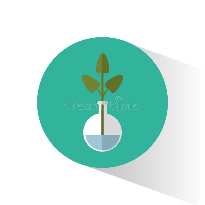 Symbol för skola för rör för biologiväxttestt royaltyfri illustrationer