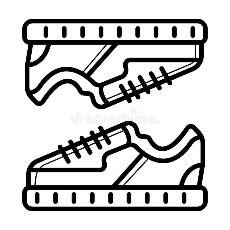 Symbol för skor för symbol för springskor stock illustrationer
