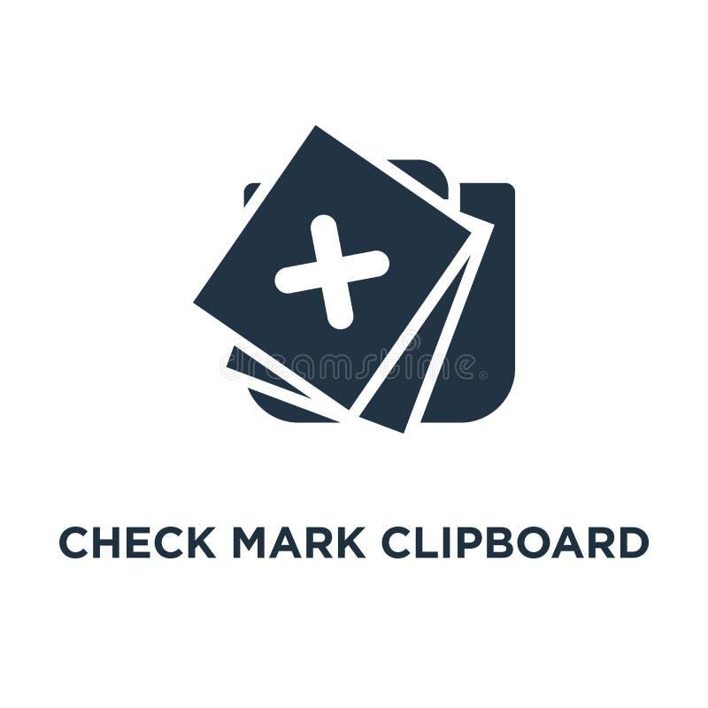 symbol för skrivplatta för kontrollfläck den gjorda uppgiften, frågeformulärformen, snabb opinionsundersökning, skriva in sig i d vektor illustrationer