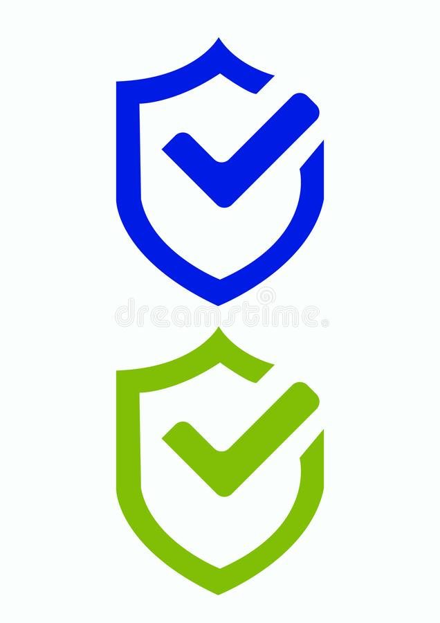 Symbol för skyddssäkerhetsvektor stock illustrationer