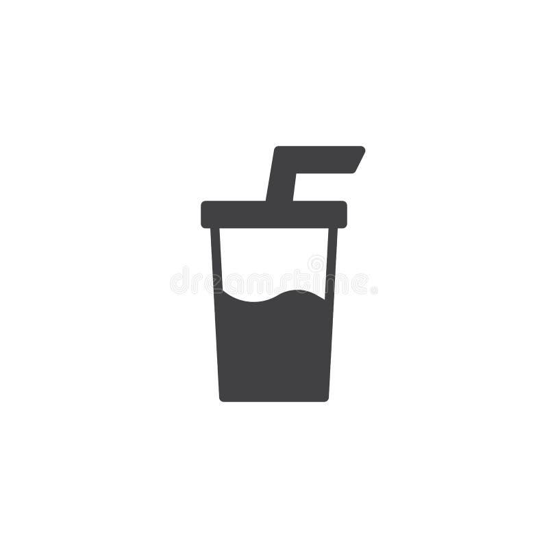 Symbol för sodavattendrinkvektor vektor illustrationer