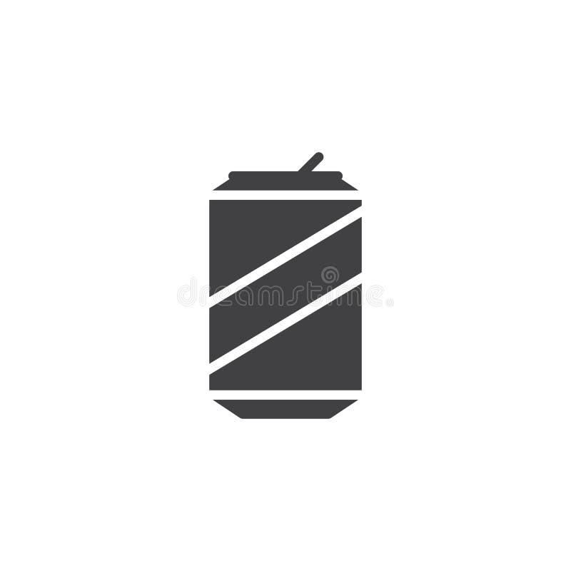 Symbol för sodavattendrinkvektor royaltyfri illustrationer