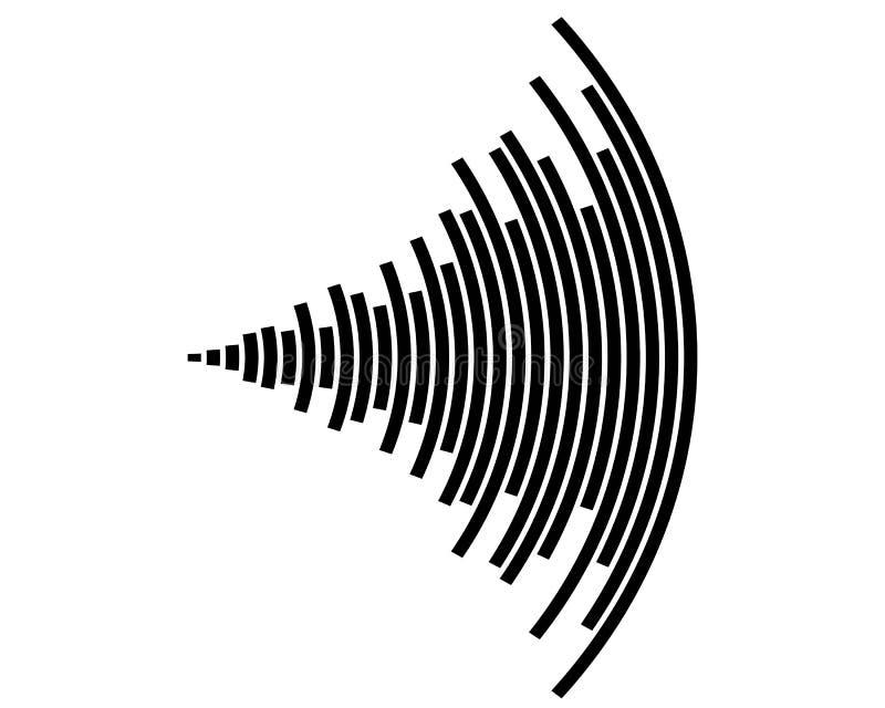 Symbol för solid våg vektor illustrationer
