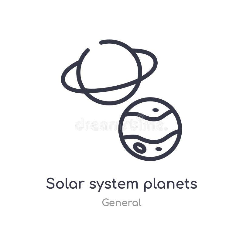 symbol för solsystemplanetöversikt isolerad linje vektorillustration fr?n allm?n samling redigerbar tunn slaglängdsolsystem stock illustrationer