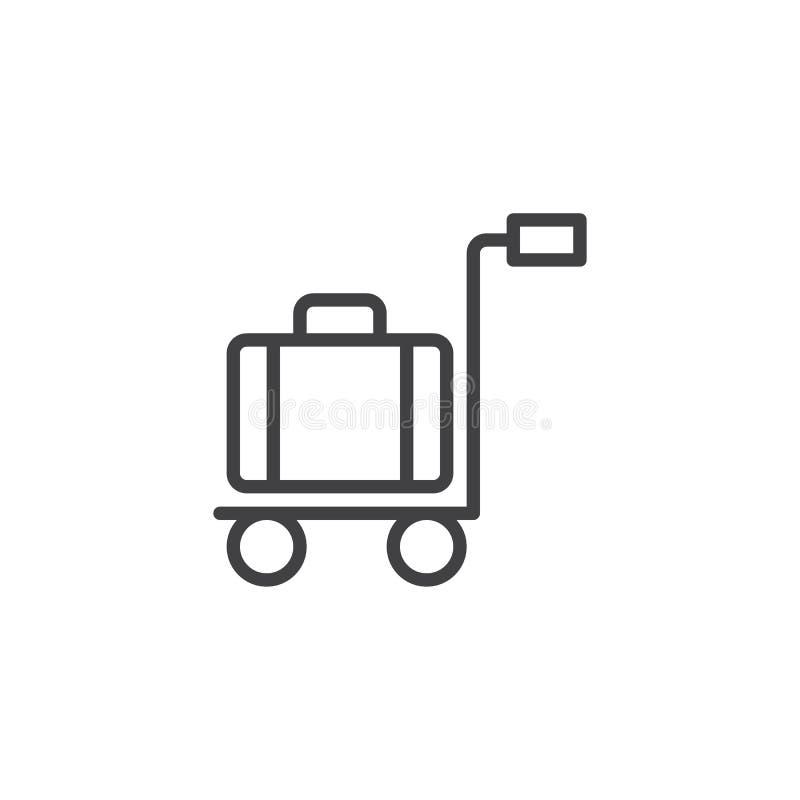 Symbol för spårvagnbagageöversikt vektor illustrationer