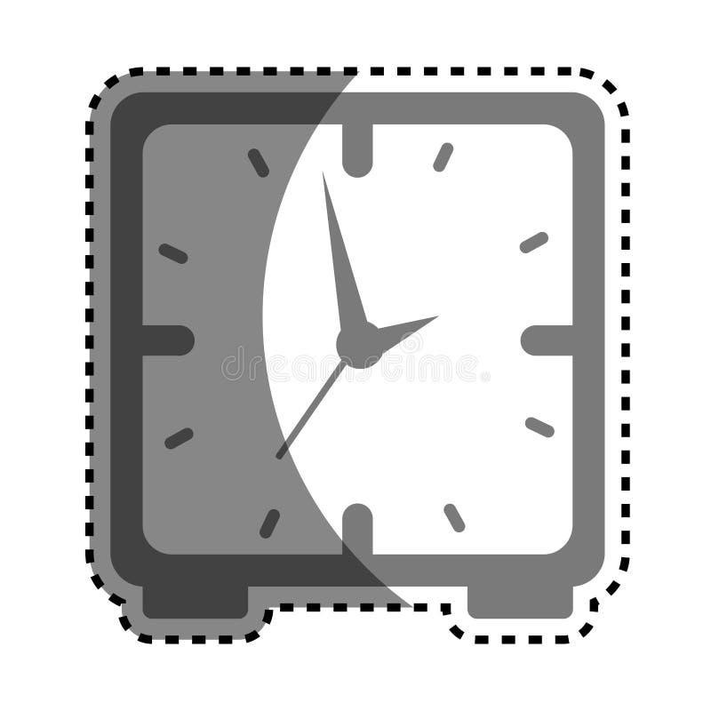 symbol för stämpelurklocka vektor illustrationer