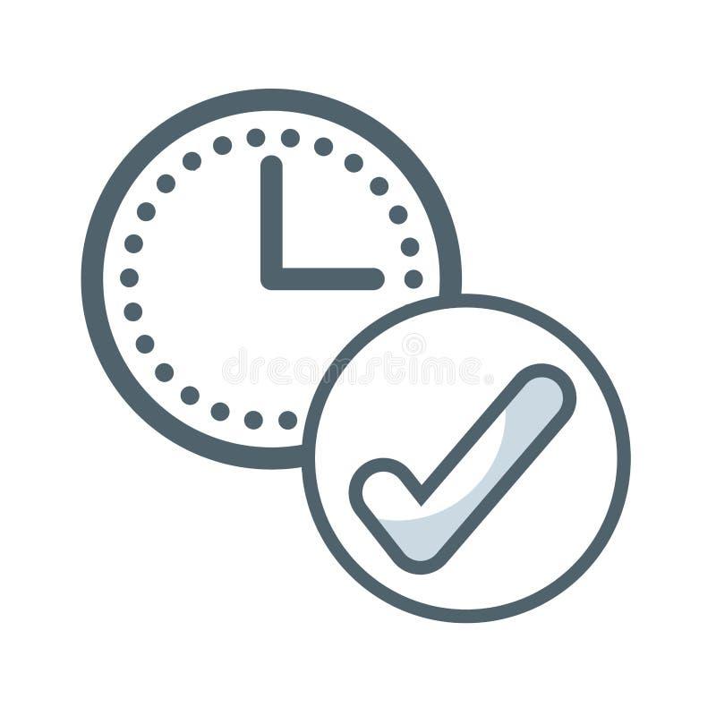 symbol för stämpelurklocka stock illustrationer