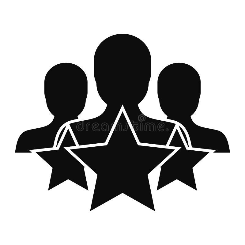 Symbol för stjärnakundkvarhållande, enkel stil royaltyfri illustrationer