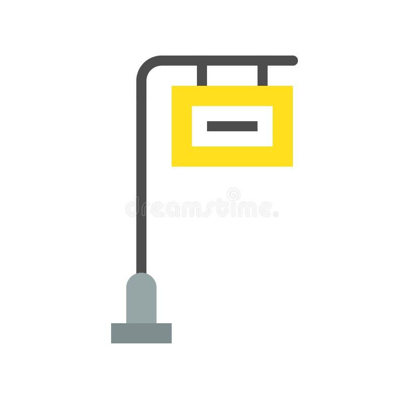 Symbol för stolpe för Wayfinding trafiktecken stock illustrationer