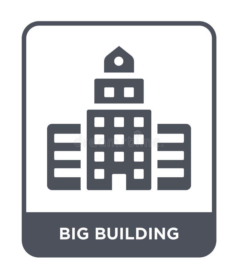 symbol för stort byggande i moderiktig designstil symbol för stort byggande som isoleras på vit bakgrund enkel vektorsymbol för s stock illustrationer